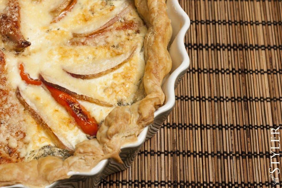 tarta,quiche,tartaletki,wypieki,ciasta,ciasto francuskie,deser,prosty deser,szybki obiad,tarta z owocami,tarta z agrestem i porzeczką,tarta z kurczakiem