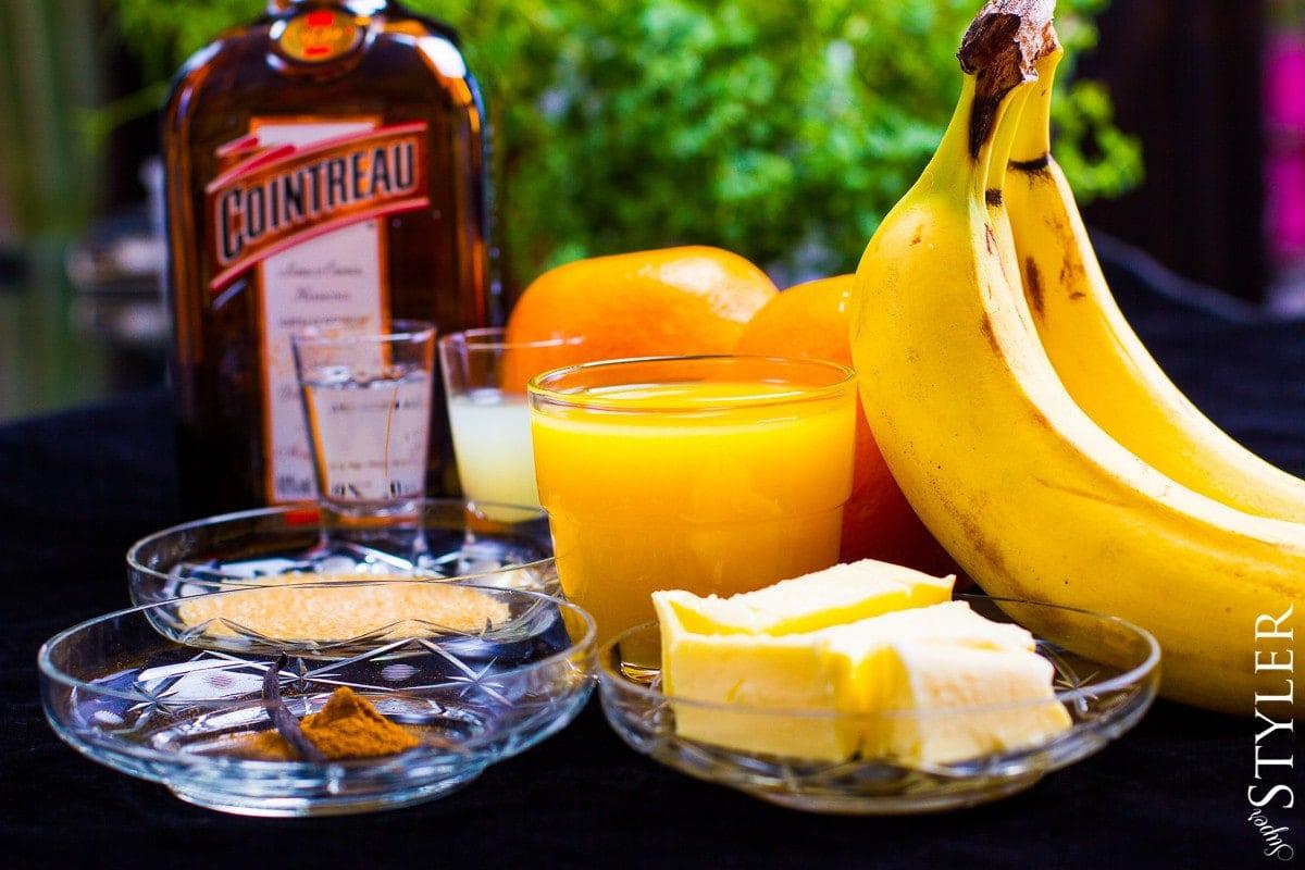 deser bananowy,likier pomarańczowy,prosty deser,deser z bananami,deser z lodami,sos bananowy, Cointreau,deser z Cointreau,deser pomarańczowy,deser z pomarańczami,deser bananowo-pomarańczowy,deser z alkoholem, deser alkoholowy,desery z bananami,desery z pomarańczami,sos do lodów,deser z likierem pomarańczowym