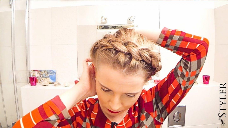 Marta Plecie: wianek z włosów krok po kroku