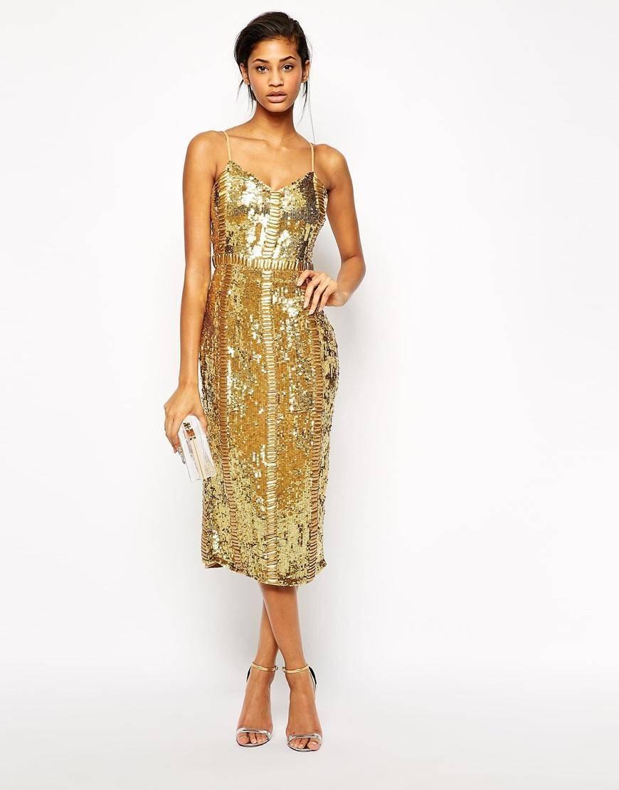 złota suknia