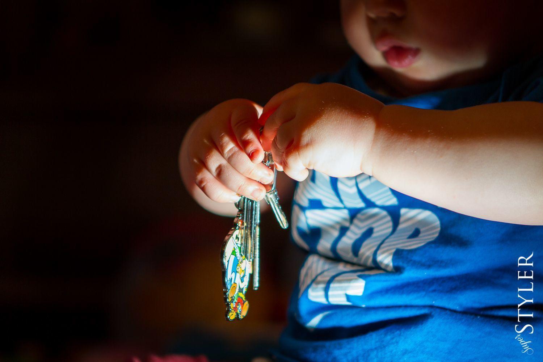 dziecko klucze