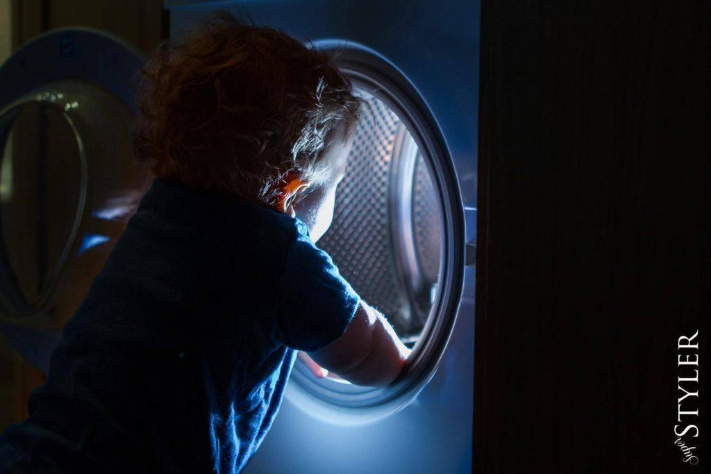 dziecko pralka