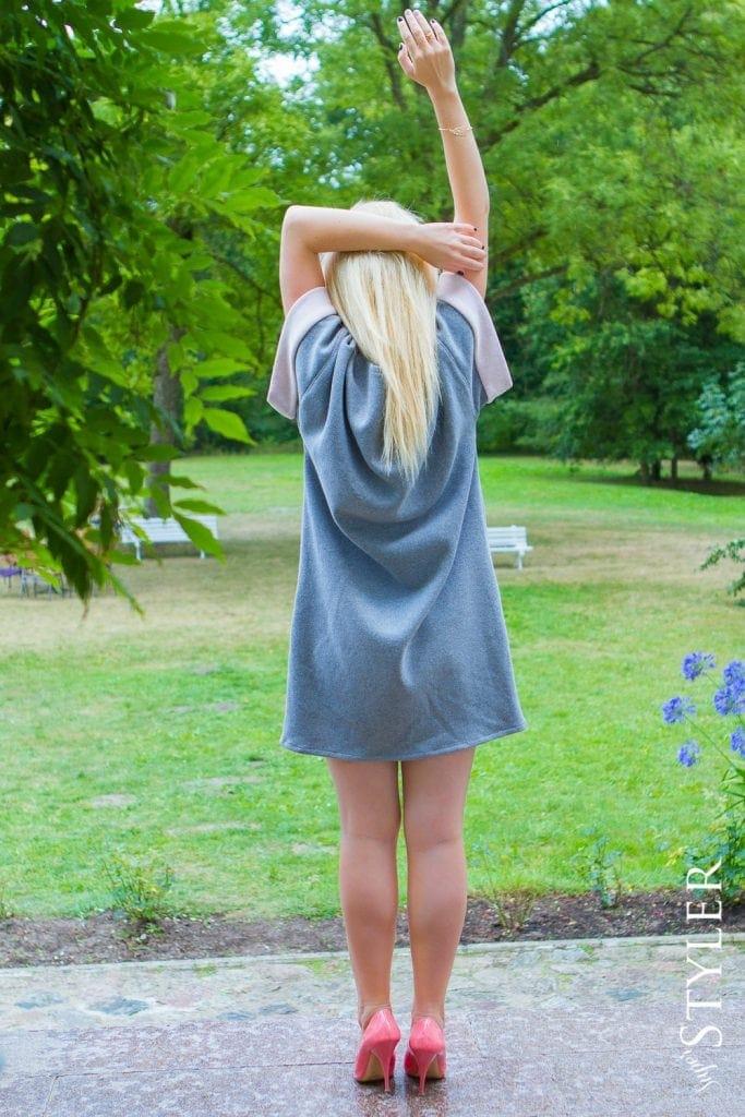 szara sukienka malou oversize