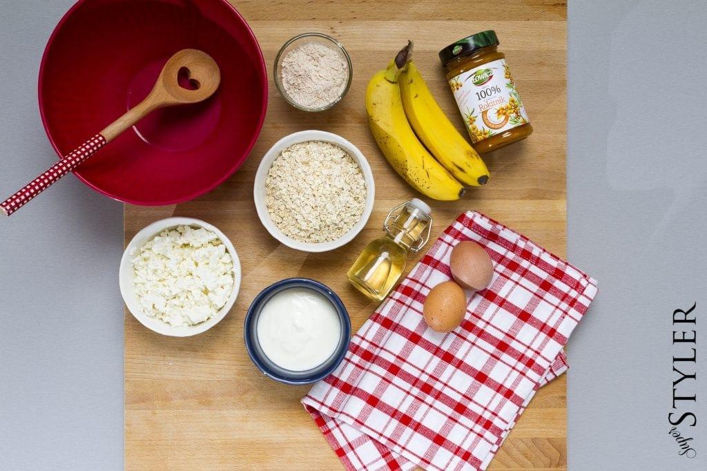 placuszki bananowo-twarogowe