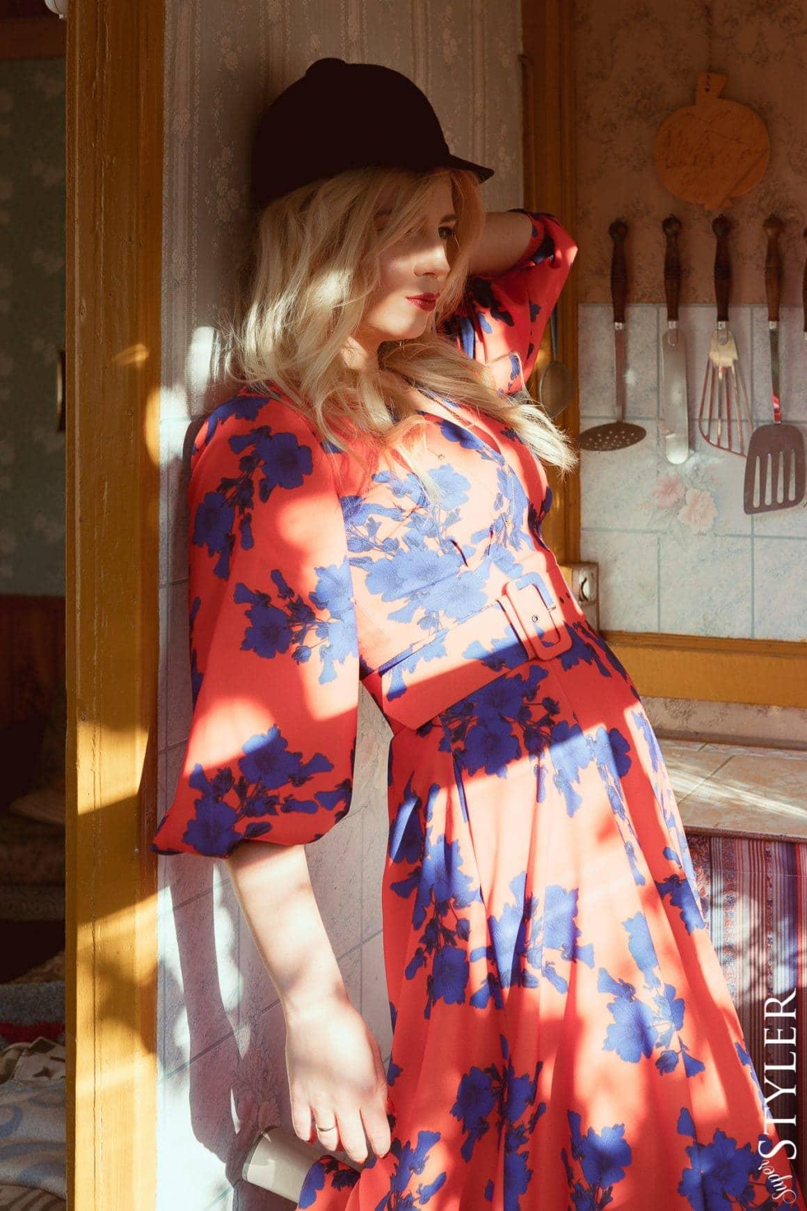 jesienna sukienka bizuu