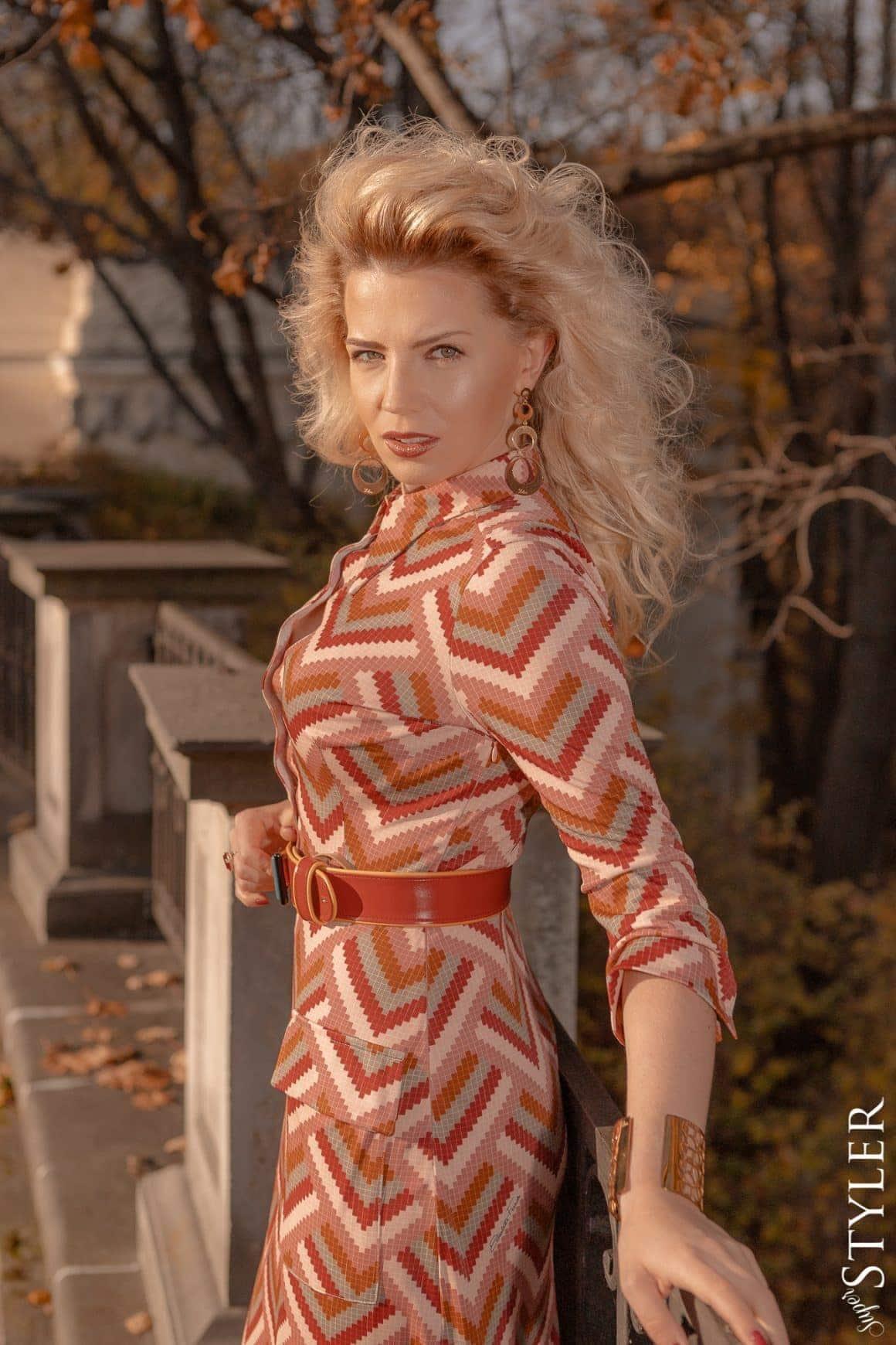 sukienka lata 70te marta lech maciejewska superstyler