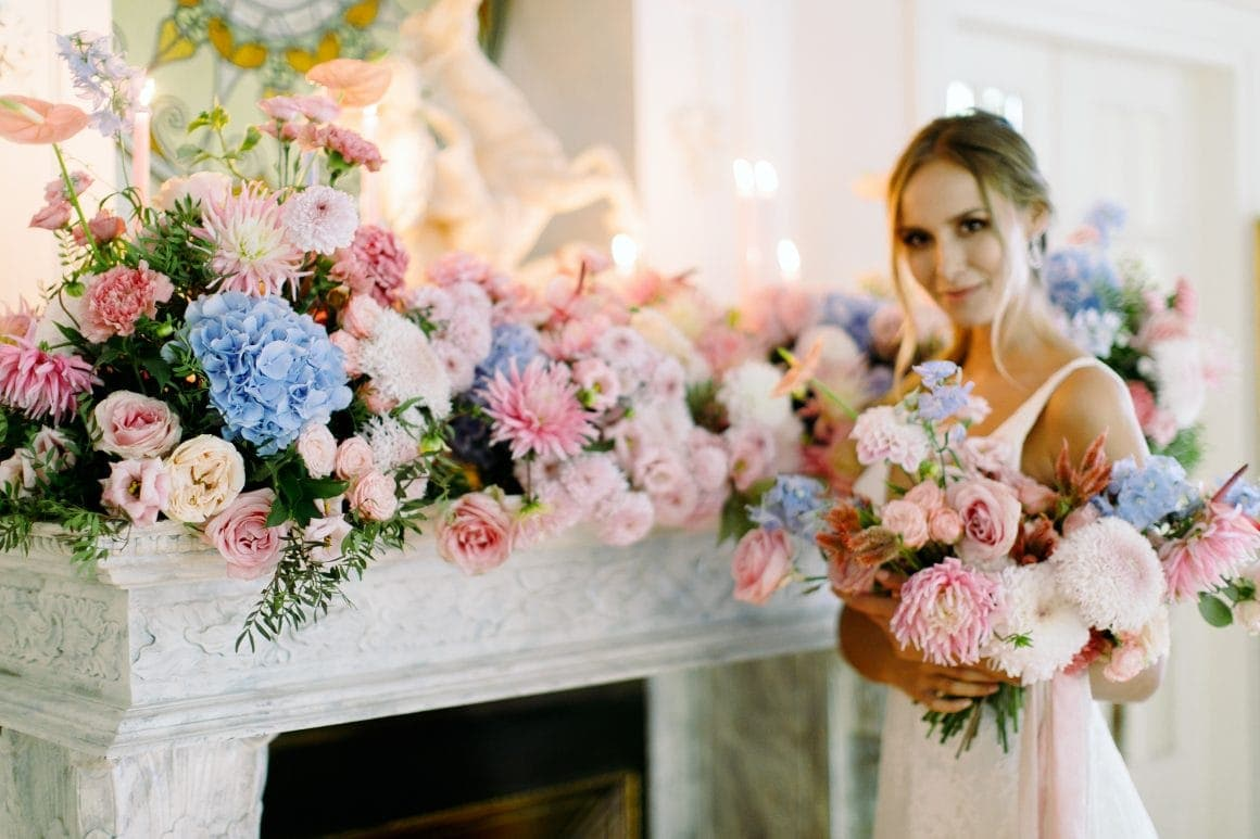 dekoracja ślubna kwiaty
