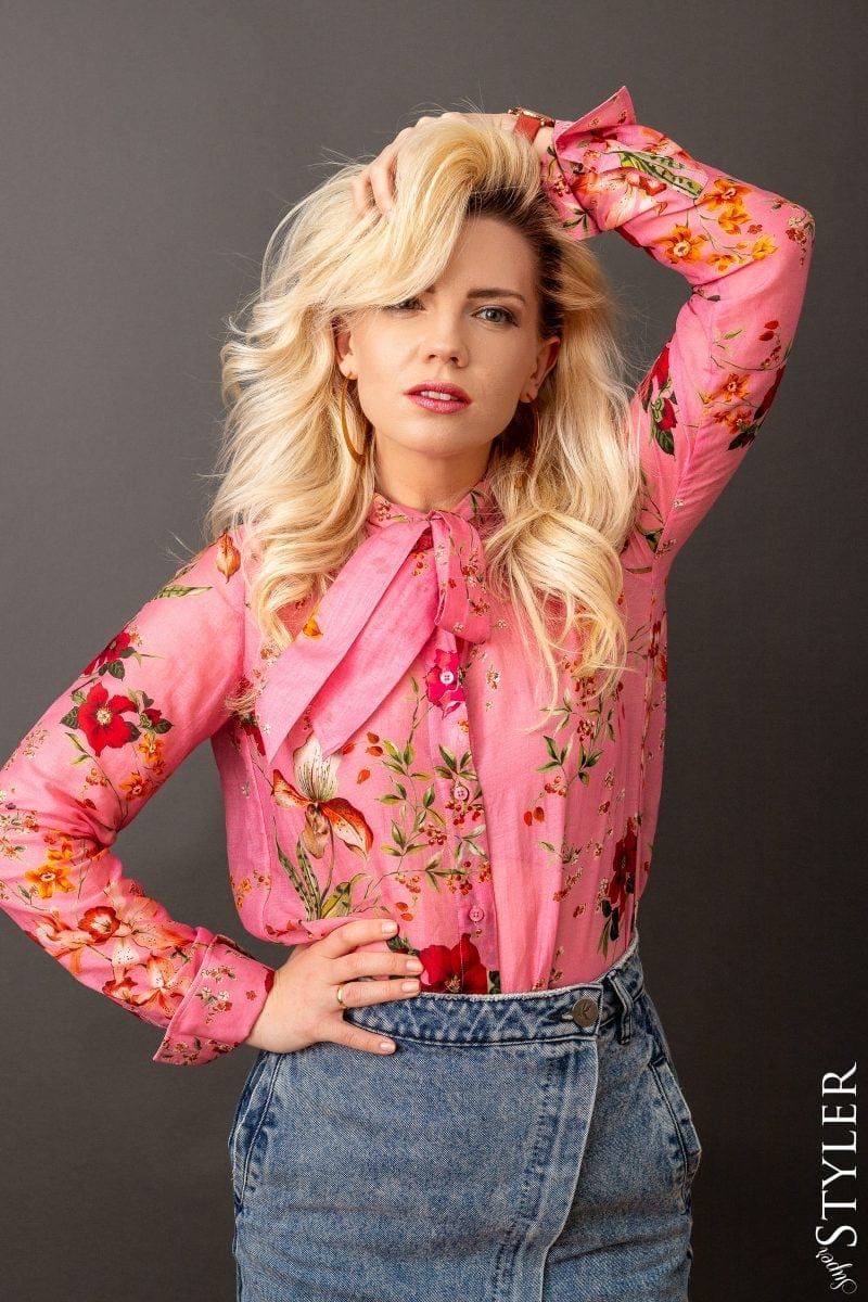 damska koszula w kwiaty