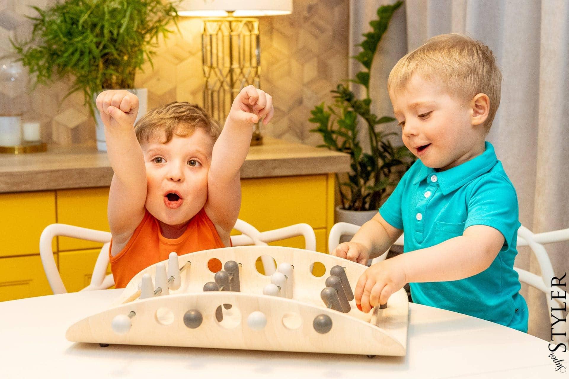 drewniane piłkarzyki zabawki kreatywne