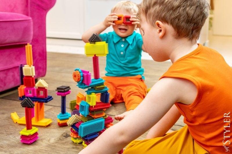 klocki jeżyki zabawki kreatywne