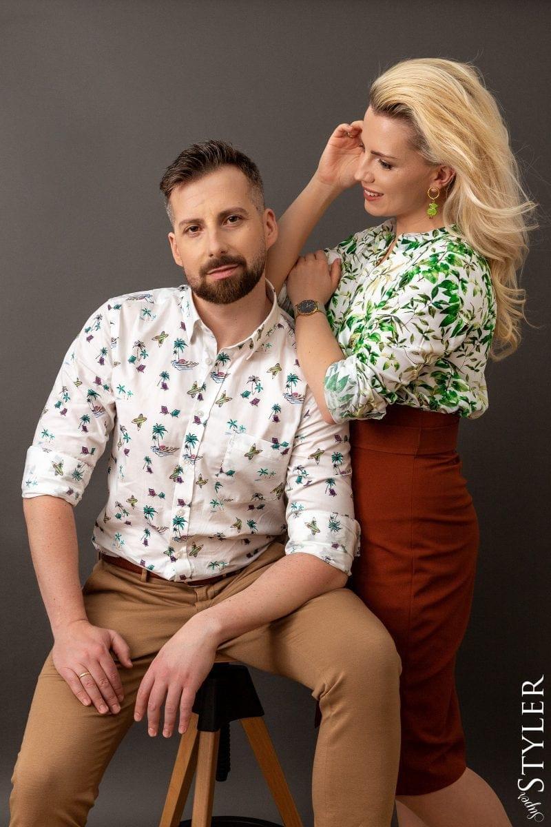 dopasowanie ubioru para