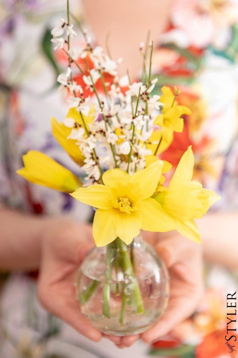 kwiatki stroik wielkanoc