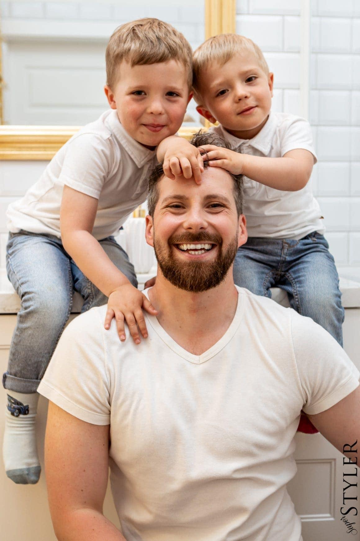 Jan Lech z dziećmi