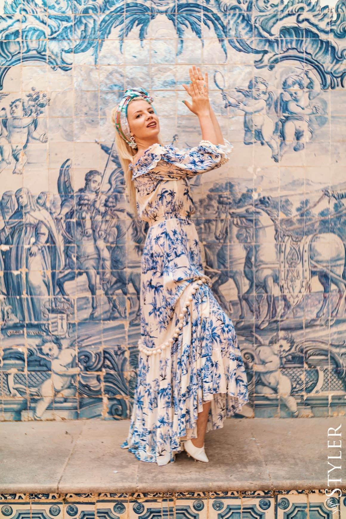 niebieska sukienka Bizuu Cascais