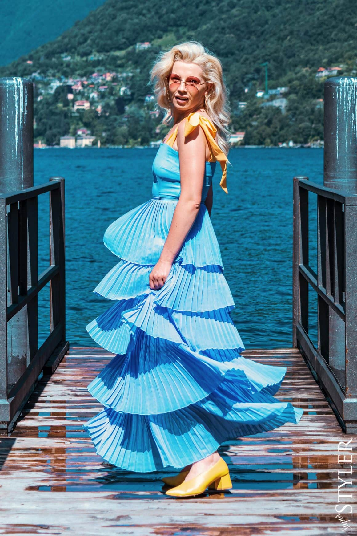 letnia plisowana sukienka Maare