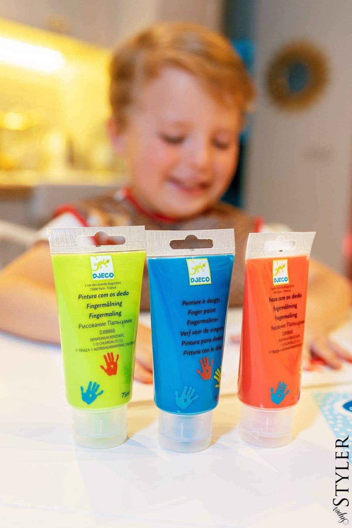 farby do malowania palcami wyprawka przedszkolaka