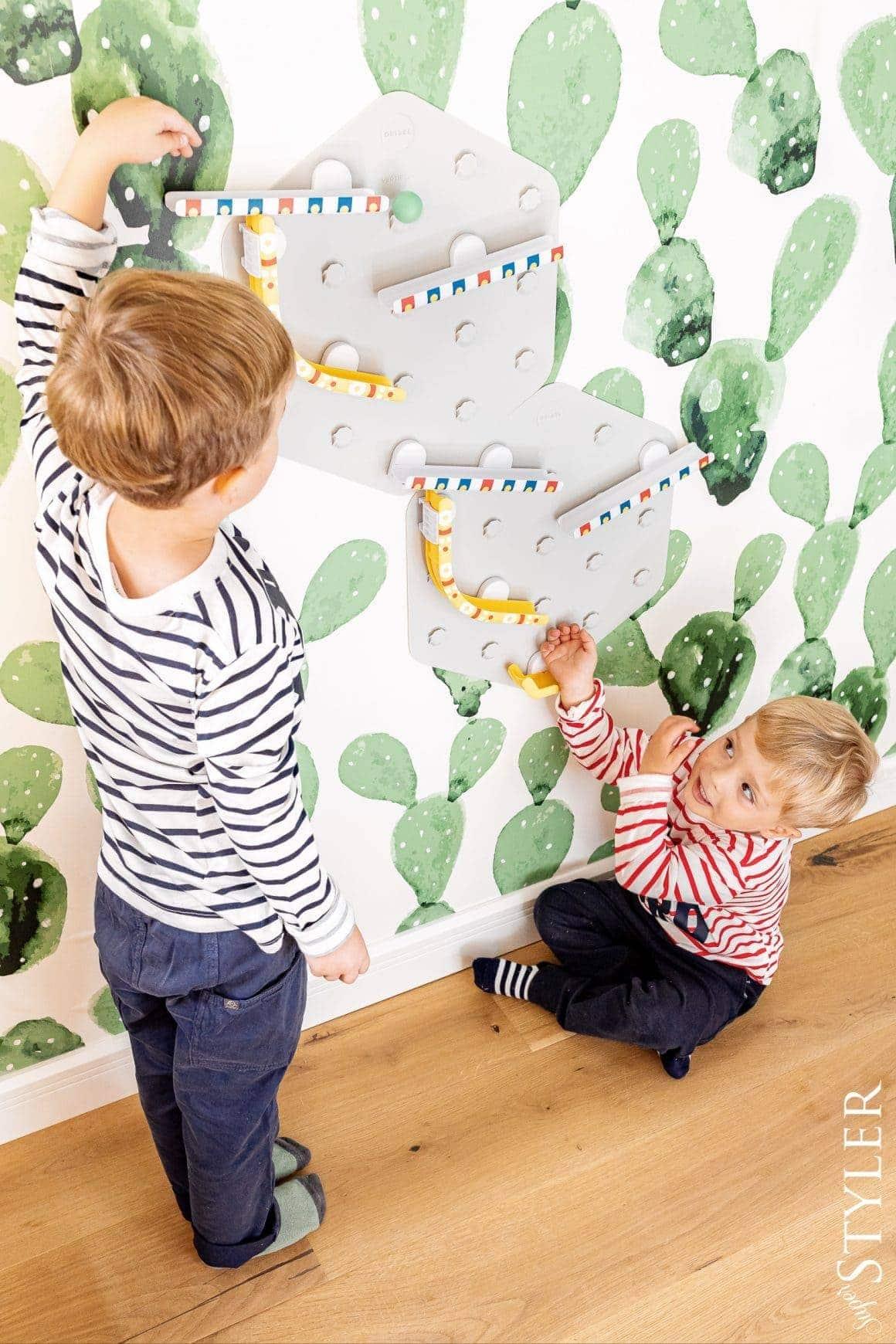zabawy dla dzieci w domu podwójny kulodrom superstyler