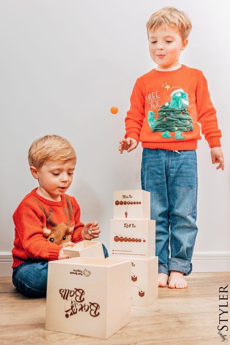 prezent na Mikołaja, gra Box&Balls