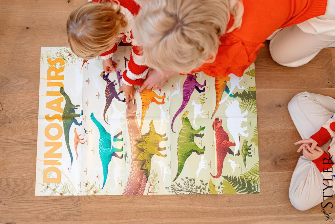 Noski poppik dinozaury